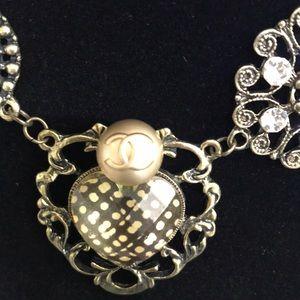 ROMANTIC repurposed CHANEL button necklace